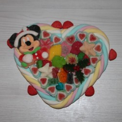 Coeur Noël Mickey ou Minnie