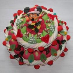 "Pièce montée en bonbons "" Magie de Noël "" Mickey"