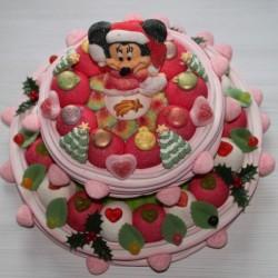 """Pièce montée en bonbons """" Magie de Noël """" Minnie"""