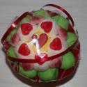 Bouquet de fleurs en bonbons St Valentin