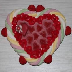Coeur en bonbons St Valentin petit modèle