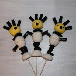 Brochette de bonbons Black and White