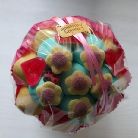 Bouquet de fleurs coccinelle