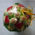 Bouquet de fleurs en bonbons jaune/vert fleurs jaunes
