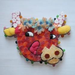 Vache en bonbons