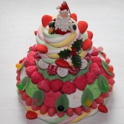 Pièce montée en bonbons Noël