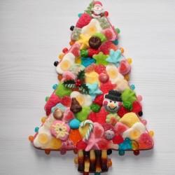 Sapin de Noël en bonbons grand modèle