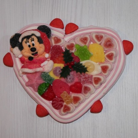 Coeur en bonbons Noël Minnie