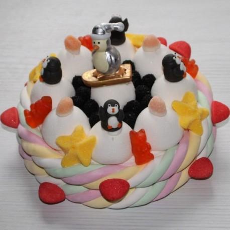 Gâteau de bonbons Pingouin