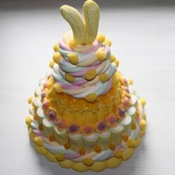Pièce montée de bonbons Milk-Shake Citron-Banane Mont Blanc