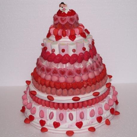 """Pièce montée en bonbons mariage """" Angélique """""""
