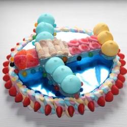Avion en bonbons sur socle
