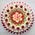 """Gâteau de bonbons rosace """" Gourmandise """""""