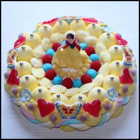 Gâteau de bonbons Princesse Blanche neige