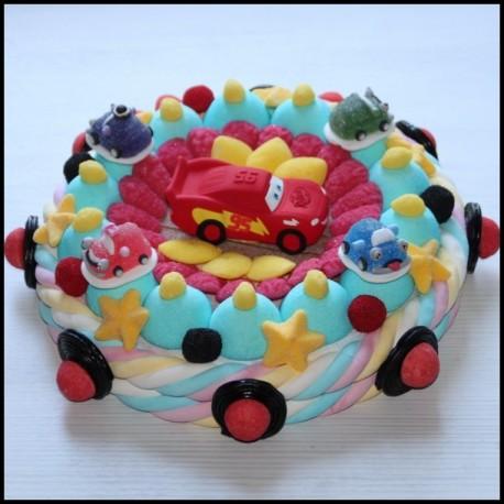 Gâteau de bonbons Flash McQueen du film Cars