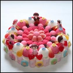 Gâteau de bonbons Poupées Kokeshi