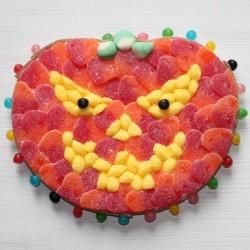 Citrouille Jack-o'lantern d'alloween en bonbons