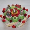 """Gâteau de bonbons """" Crèche de Noël """""""