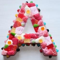 Lettres en bonbons