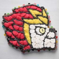 Personnage Laval de Lego en bonbons