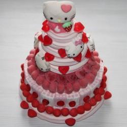 Maxi pièce montée Hello Kitty en bonbons