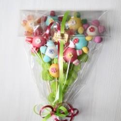 Bouquet de fleuriste en bonbons
