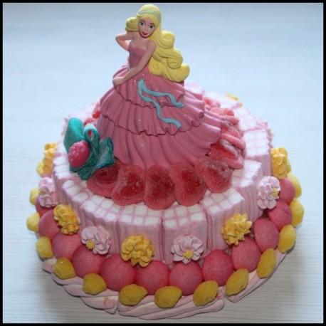 Pièce montée en bonbons Barbie