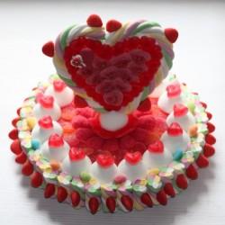 """Gâteau de bonbons coeur """" Mon Amour """""""