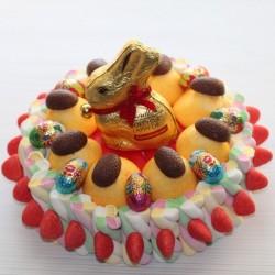 Gâteau de bonbons Lapin Or de Lindt