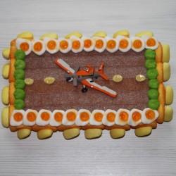 """Gâteau en bonbons Planes """" piste d'atterrissage """""""