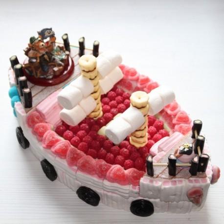 Bateau pirates en bonbons