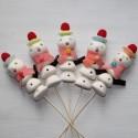 Brochette de bonbons bonhomme de neige