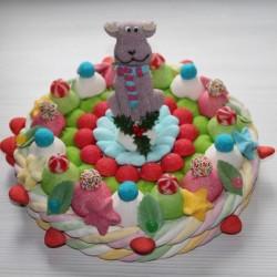 Gâteau de bonbons Renne du père Noël