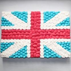 """Drapeau en bonbons """" Union Jack """""""