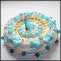 Gâteau de bonbons La reine des neiges