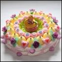 Gâteau en bonbons Raiponce