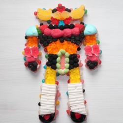 Robot années 80 en bonbons