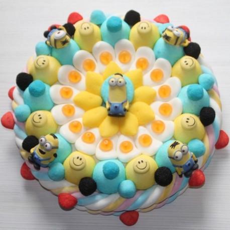 """Gâteau de bonbons """" Les minions """""""