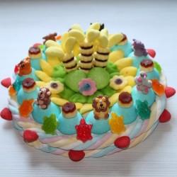 Gâteau de bonbons grand modèle animaux en sucre