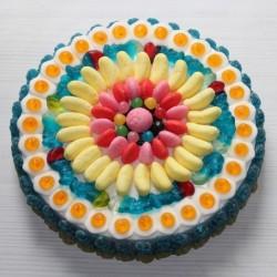Gâteau de bonbons Haribo pour anniversaire sans guimauve