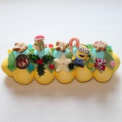 Bûche de Noël en bonbons Minions