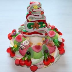 Gâteau de bonbons Sapin de Noël