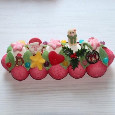 Bûche de Noël en bonbons moyen modèle
