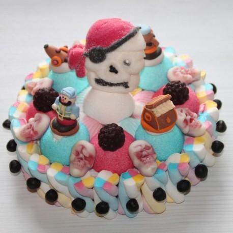 Gâteau de bonbons pirates