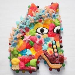 Cheval en bonbons