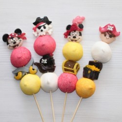 Brochette de bonbons pirates