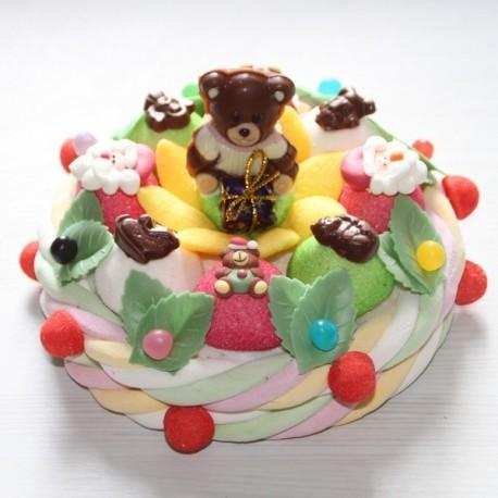 Gâteau de bonbons Ourson de Noël en chocolat
