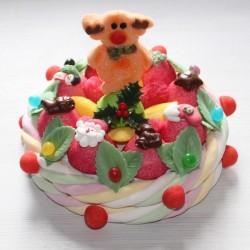 """Gâteau de bonbons """" 25 décembre """" Renne du Père Noël"""