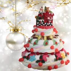 "Pièce montée de Noël en bonbons "" Noël d'antan """