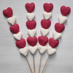 Brochette en bonbons coeur